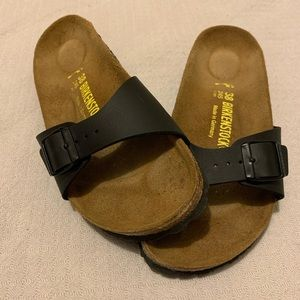 Birkenstock Madrid Black Single strap leather 38